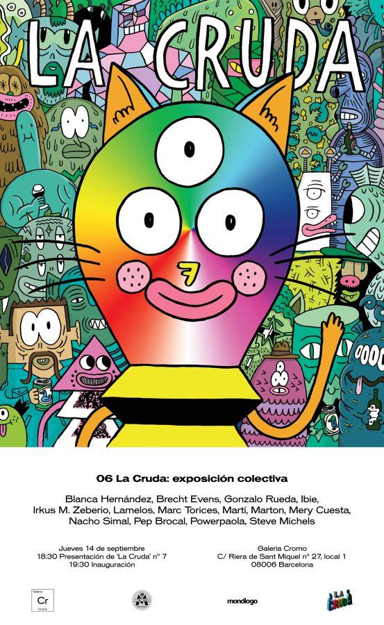 Revista La Cruda - Exposición colectiva - Nacho Simal - Lamelos - Brecht Evens